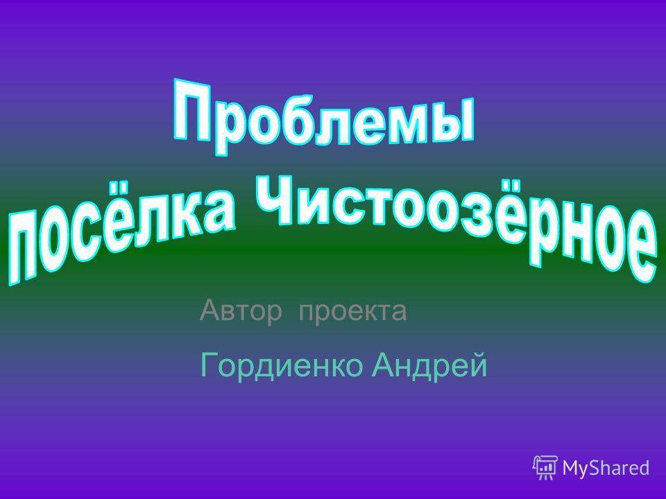 Автор проекта Гордиенко Андрей