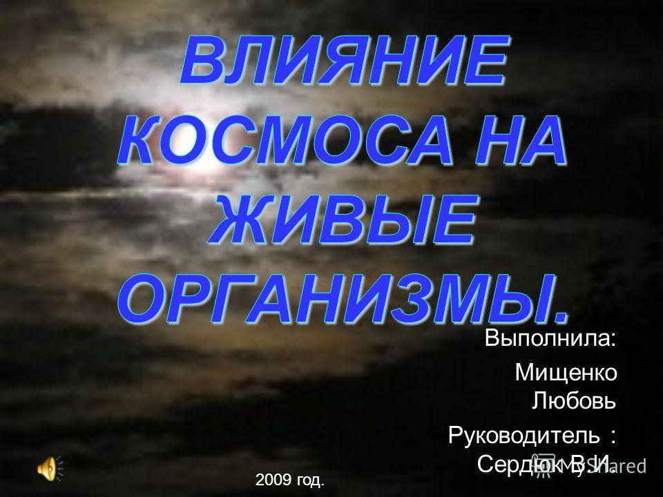 Выполнила: Мищенко Любовь Руководитель : Сердюк В.И. 2009 год.