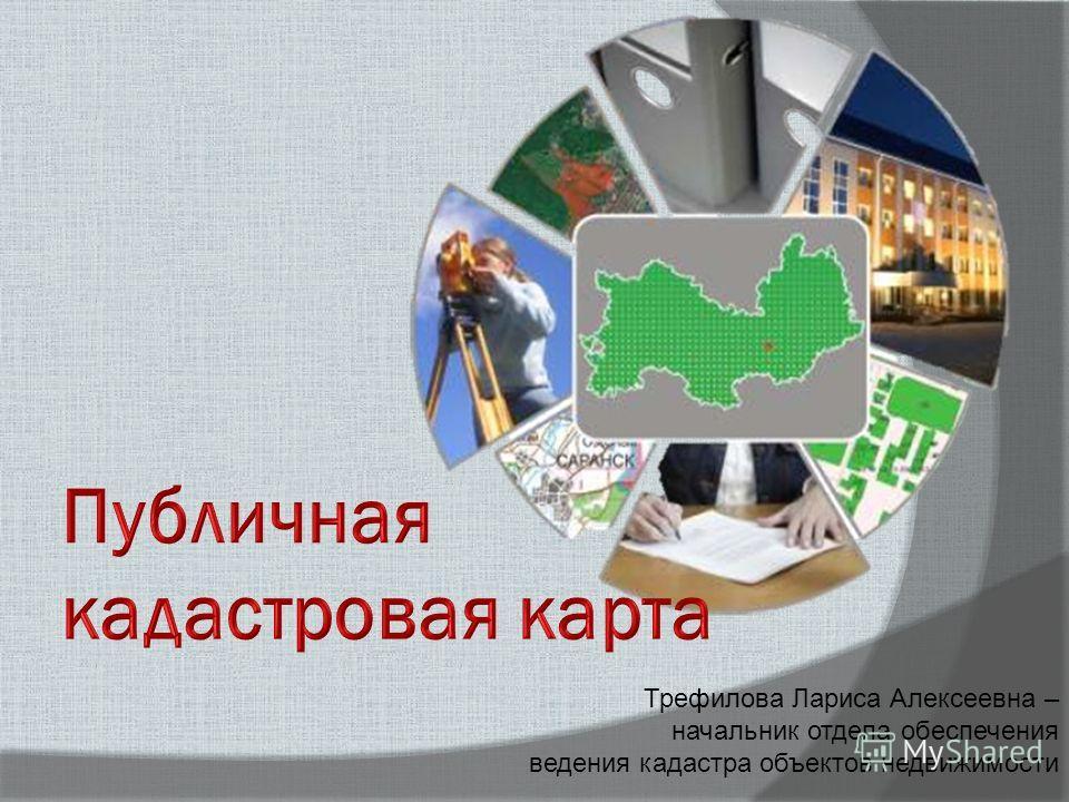 Трефилова Лариса Алексеевна – начальник отдела обеспечения ведения кадастра объектов недвижимости