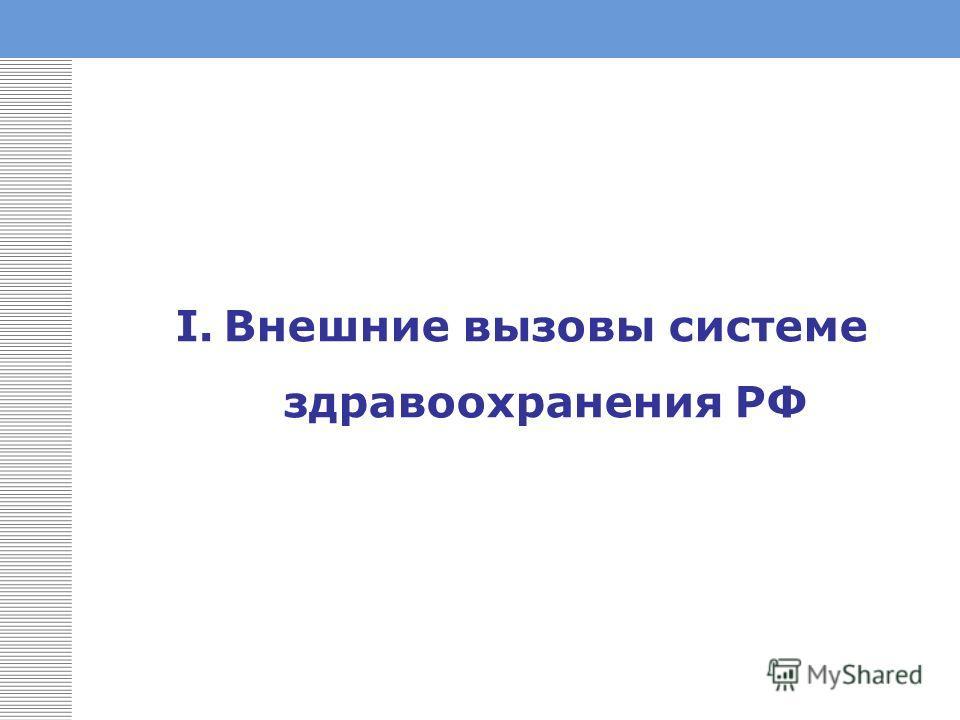 I.Внешние вызовы системе здравоохранения РФ