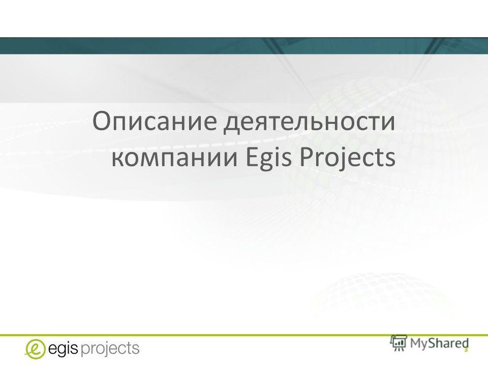 3 Описание деятельности компании Egis Projects