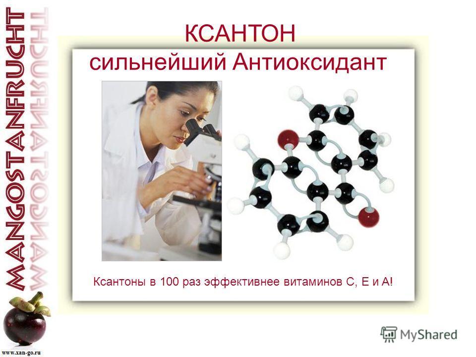 КСАНТОН сильнейший Антиоксидант Ксантоны в 100 раз эффективнее витаминов C, E и A!