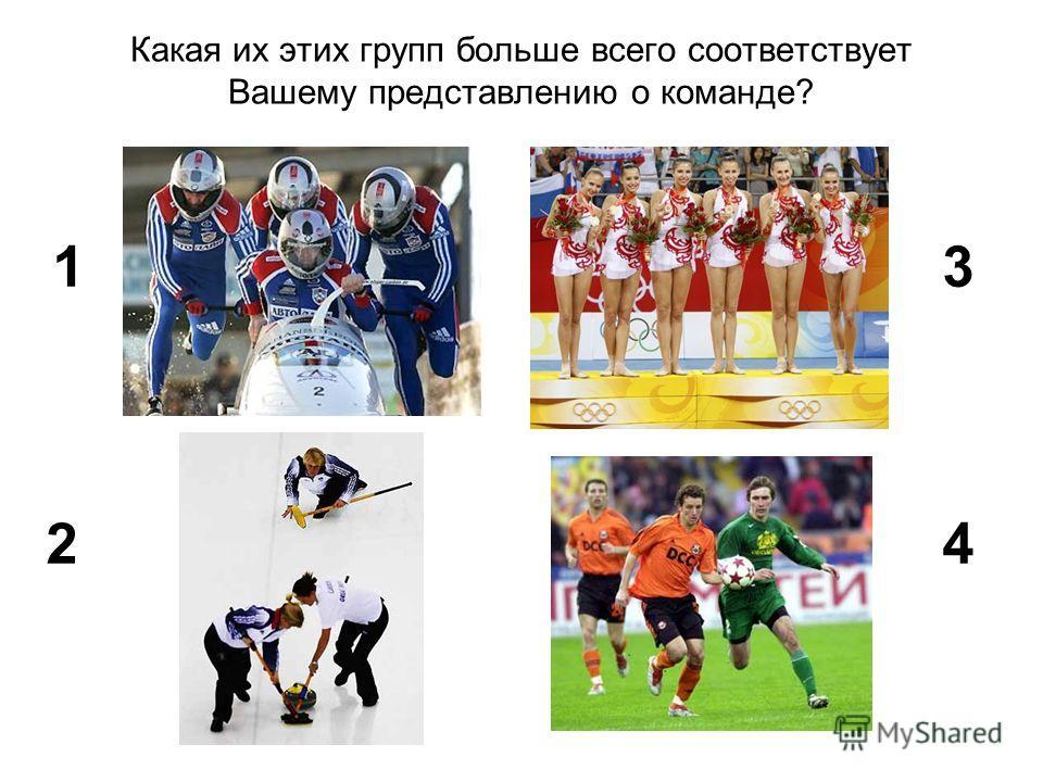 Какая их этих групп больше всего соответствует Вашему представлению о команде? 1 2 3 4
