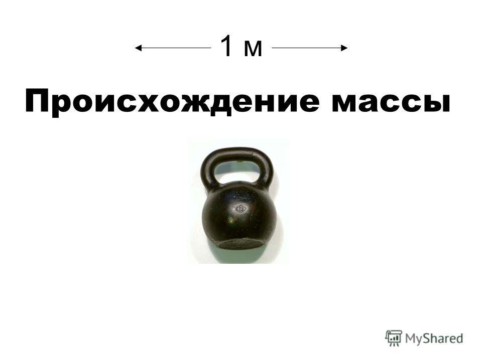 1 м Происхождение массы
