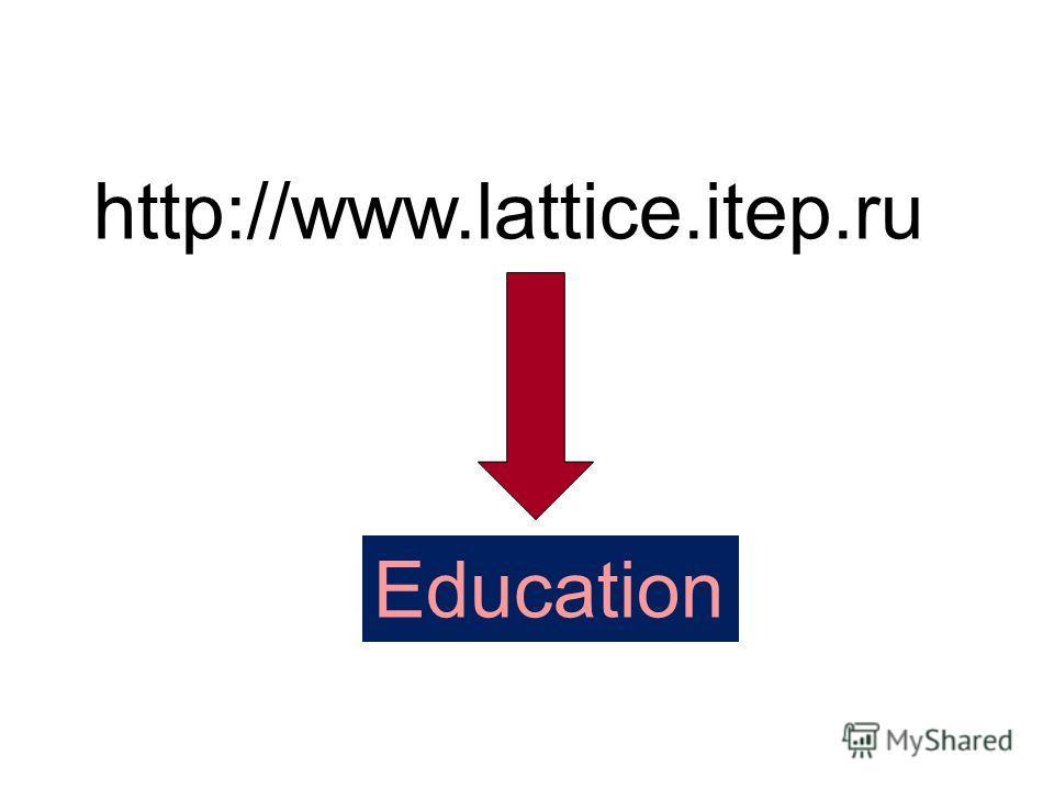 http://www.lattice.itep.ru Education