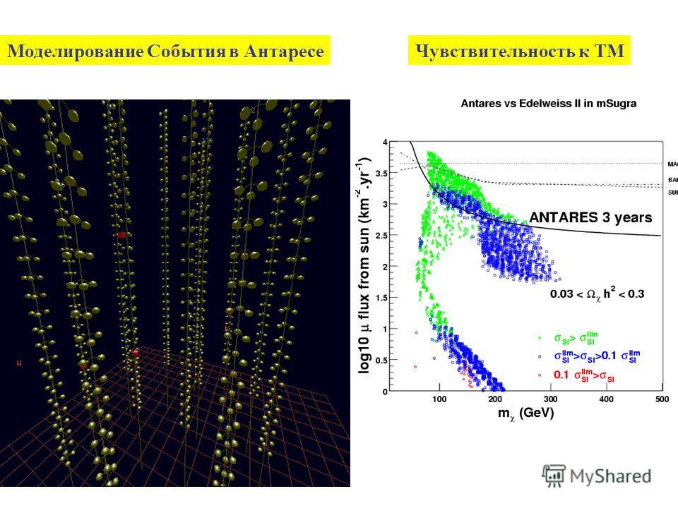 Моделирование События в АнтаресеЧувствительность к ТМ