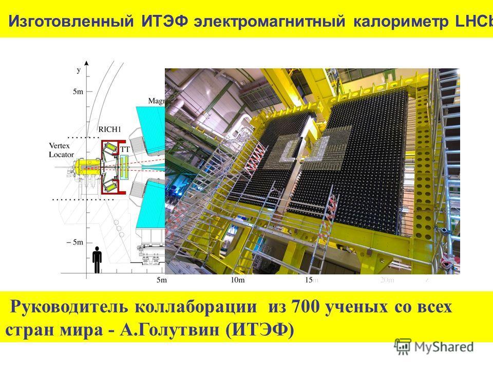 Изготовленный ИТЭФ электромагнитный калориметр LHCb Руководитель коллаборации из 700 ученых со всех стран мира - А.Голутвин (ИТЭФ) e h