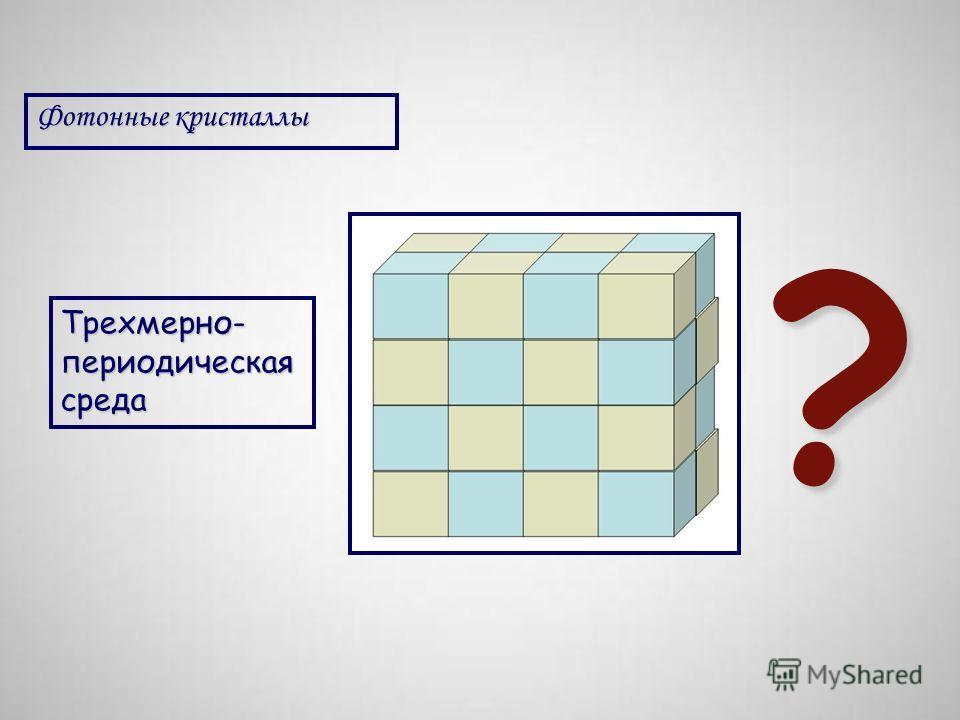 Фотонные кристаллы Трехмерно- периодическая среда ?