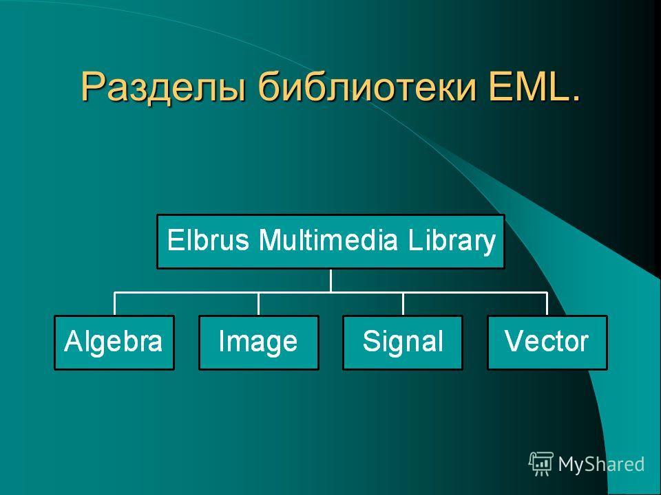 Разделы библиотеки EML.