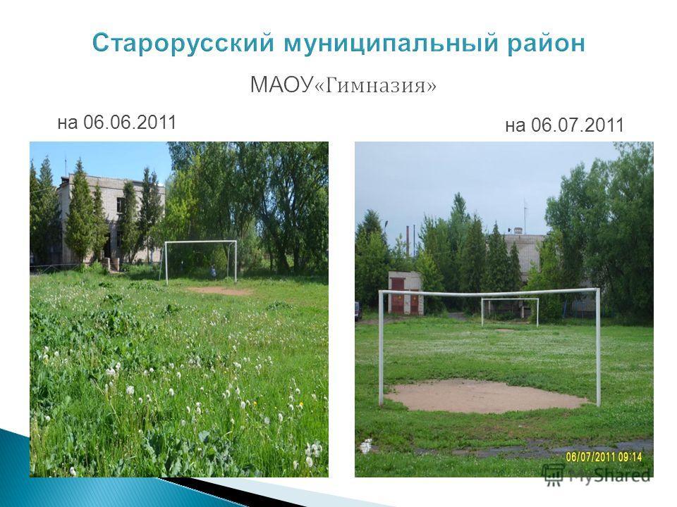 Старорусский муниципальный район МАОУ «Гимназия» на 06.06.2011 на 06.07.2011