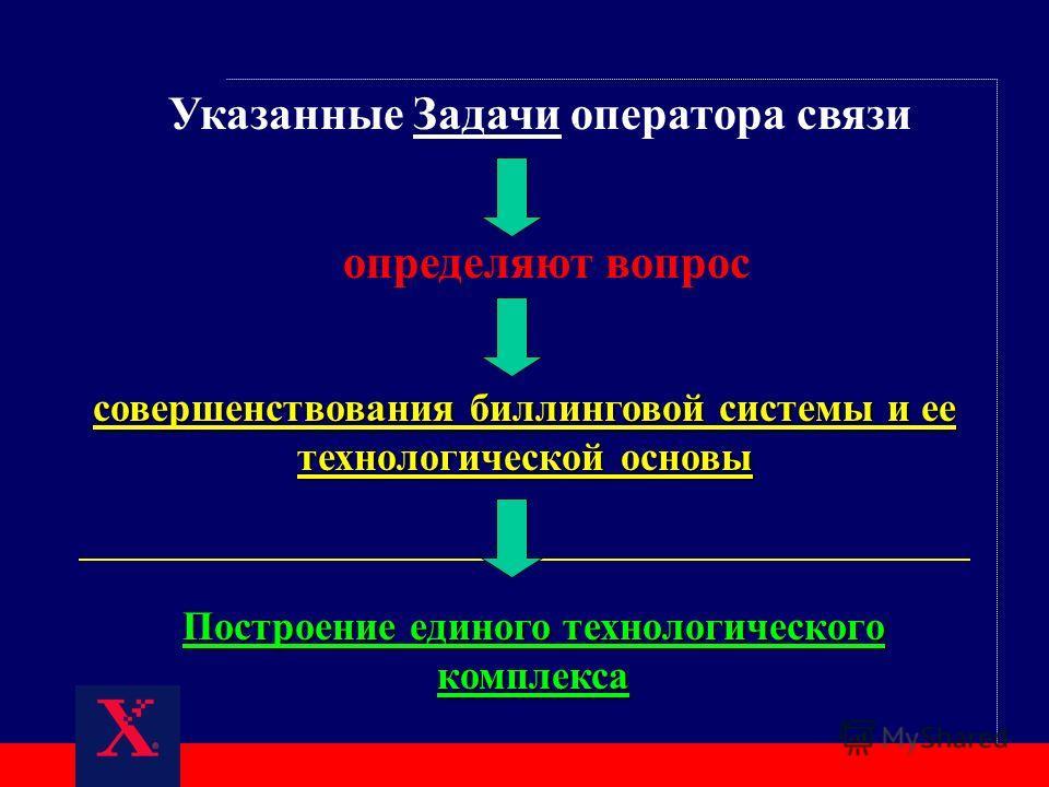 совершенствования биллинговой системы и ее технологической основы определяют вопрос Указанные Задачи оператора связи Построение единого технологического комплекса