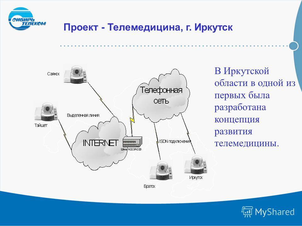 21 Проект - Телемедицина, г. Иркутск В Иркутской области в одной из первых была разработана концепция развития телемедицины.