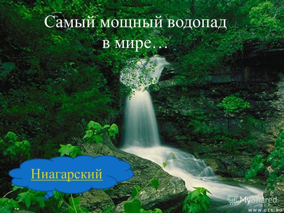 Самый мощный водопад в мире… Ниагарский