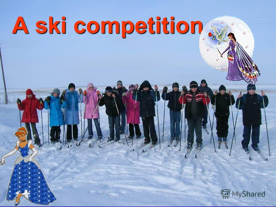 A ski competition.