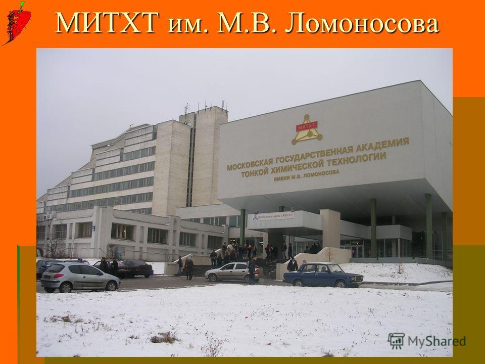 МИТХТ им. М.В. Ломоносова