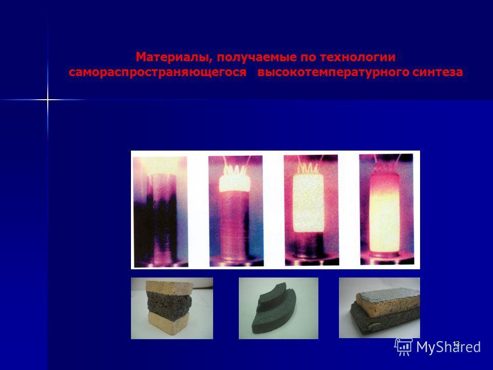 13 Материалы, получаемые по технологии самораспространяющегося высокотемпературного синтеза