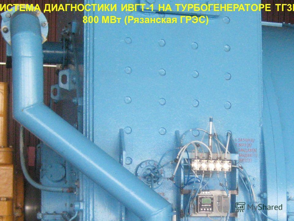 СИСТЕМА ДИАГНОСТИКИ ИВГТ-1 НА ТУРБОГЕНЕРАТОРЕ ТГ3В 800 МВт (Рязанская ГРЭС)