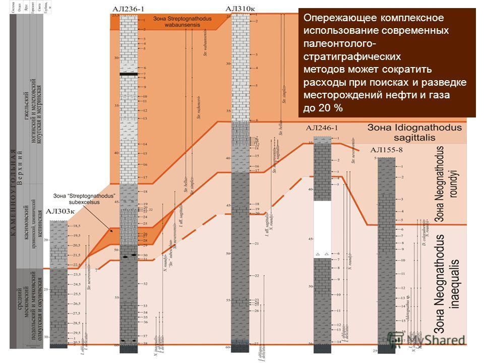 Опережающее комплексное использование современных палеонтолого- стратиграфических методов может сократить расходы при поисках и разведке месторождений нефти и газа до 20 %