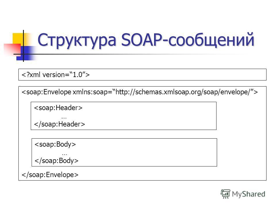 Структура SOAP-сообщений … …