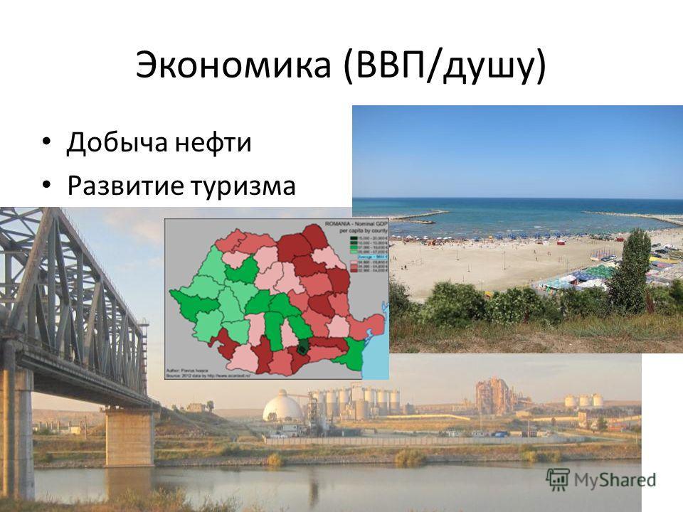 Экономика (ВВП/душу) Добыча нефти Развитие туризма