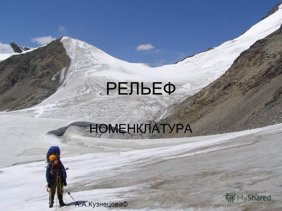 РЕЛЬЕФ НОМЕНКЛАТУРА А.А.Кузнецова©