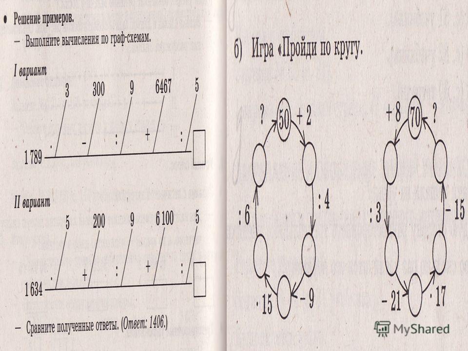 Граф- схемы.
