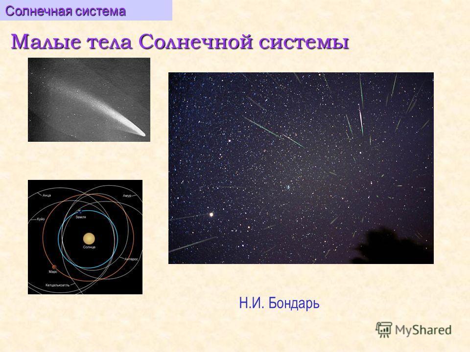 Малые тела Солнечной системы Солнечная система Н.И. Бондарь