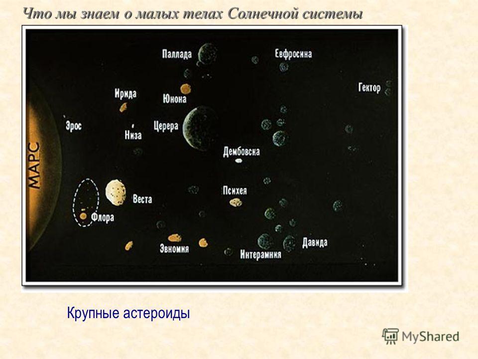 Что мы знаем о малых телах Солнечной системы Крупные астероиды