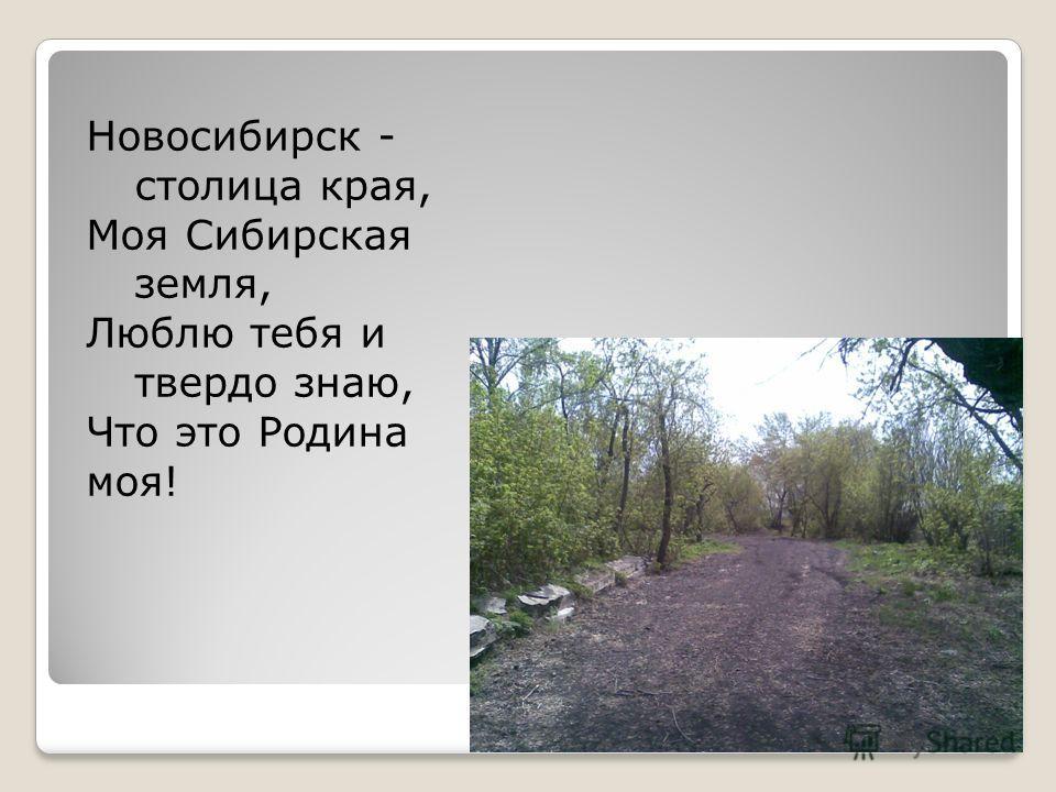 Новосибирск - столица края, Моя Сибирская земля, Люблю тебя и твердо знаю, Что это Родина моя!