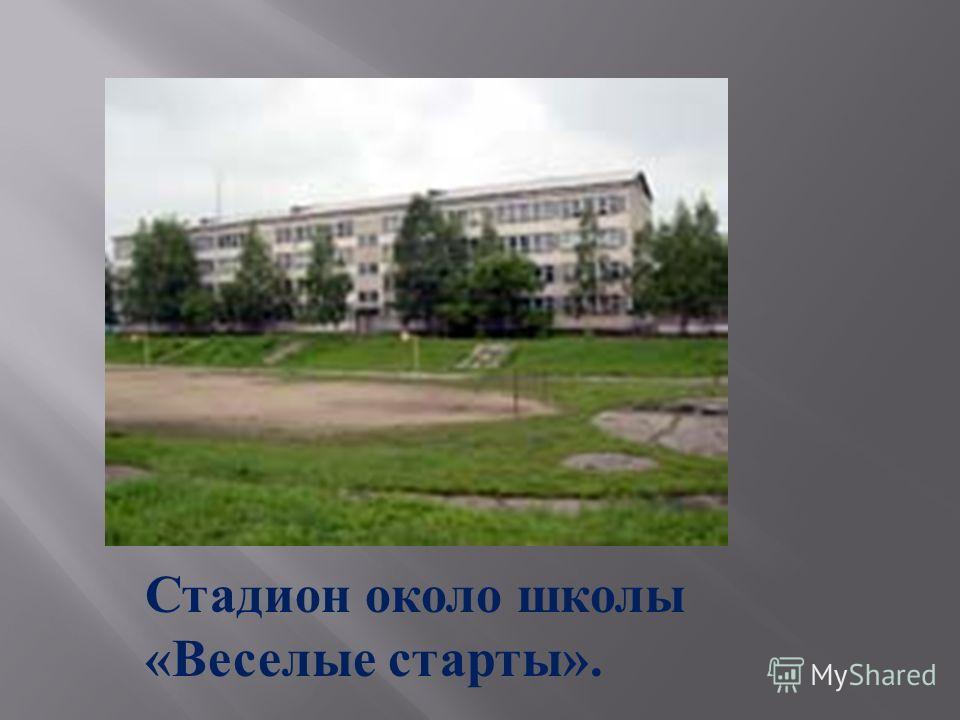 Стадион около школы « Веселые старты ».