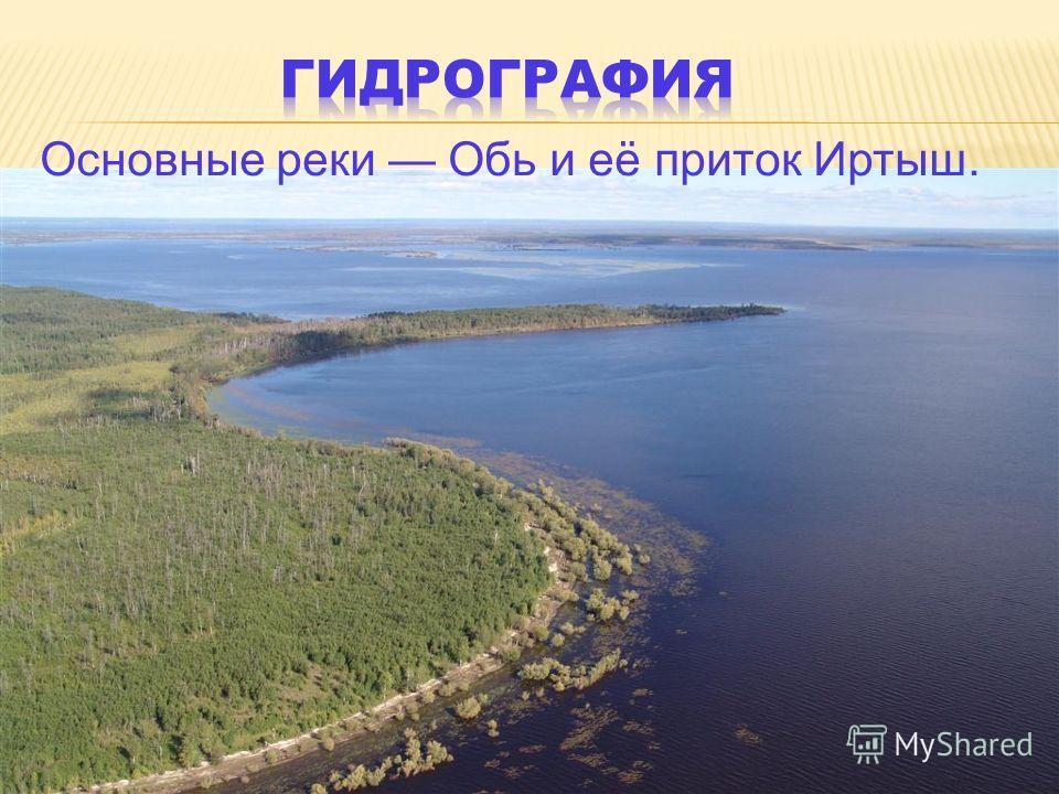 Основные реки Обь и её приток Иртыш.