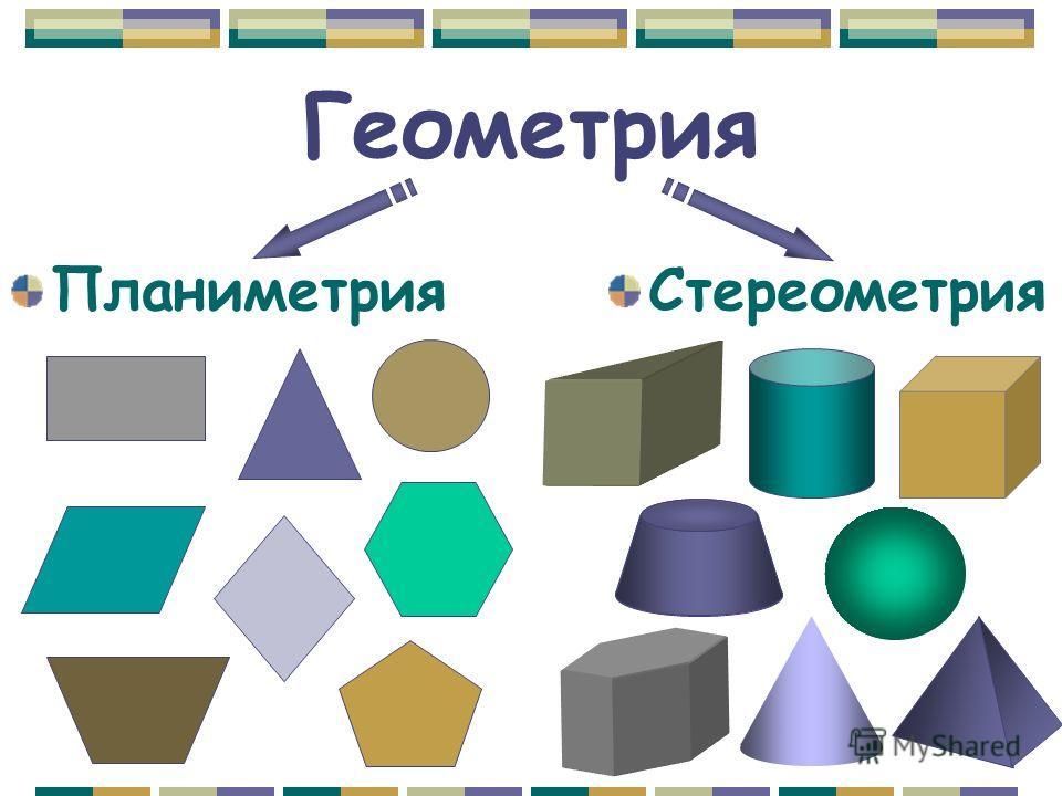 Геометрия ПланиметрияСтереометрия