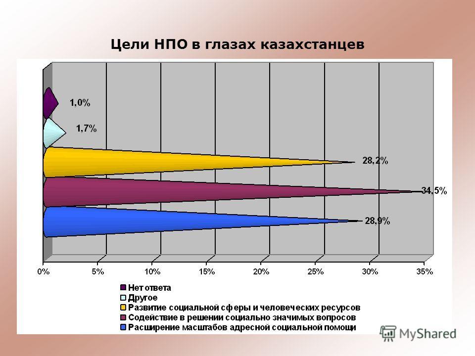 Цели НПО в глазах казахстанцев