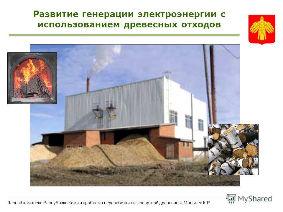 Лесной комплекс Республики Коми и проблема переработки низкосортной древесины, Мальцев К.Р. Развитие генерации электроэнергии с использованием древесных отходов
