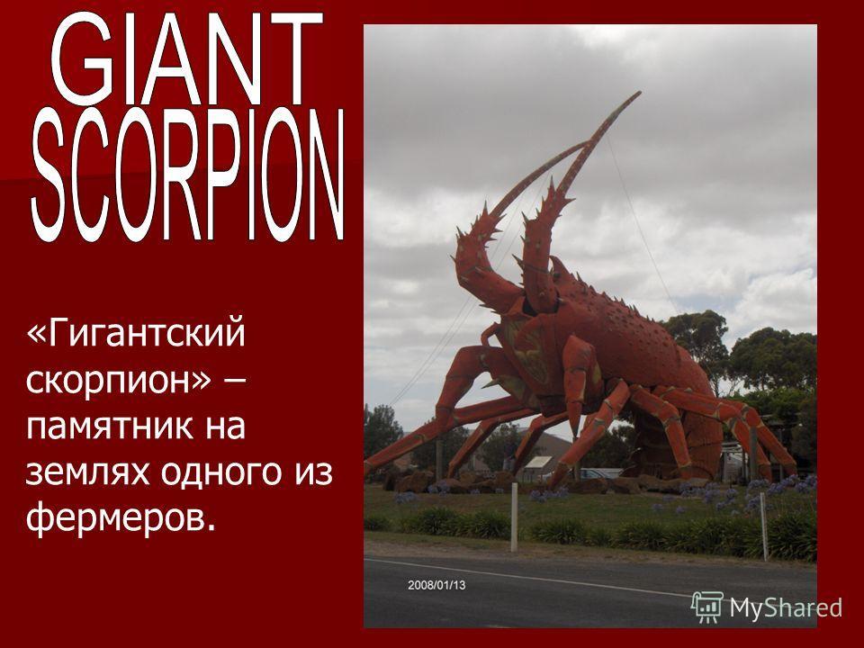 «Гигантский скорпион» – памятник на землях одного из фермеров.