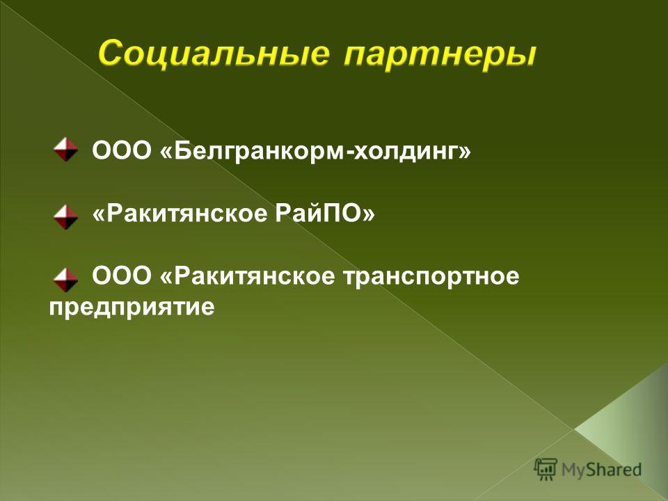 ООО «Белгранкорм-холдинг» «Ракитянское РайПО» ООО «Ракитянское транспортное предприятие