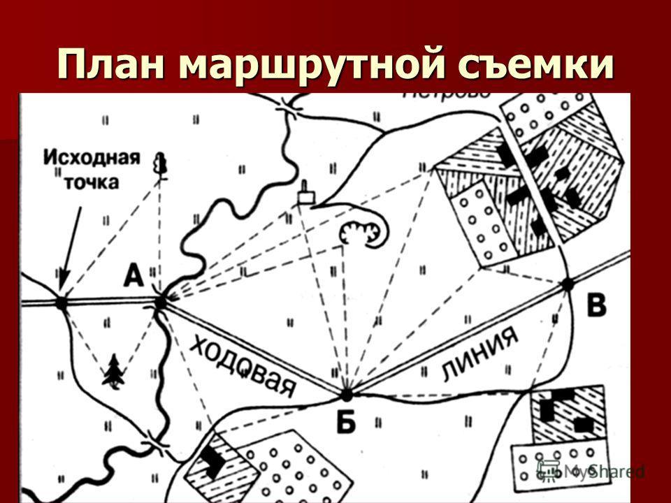 План маршрутной съемки