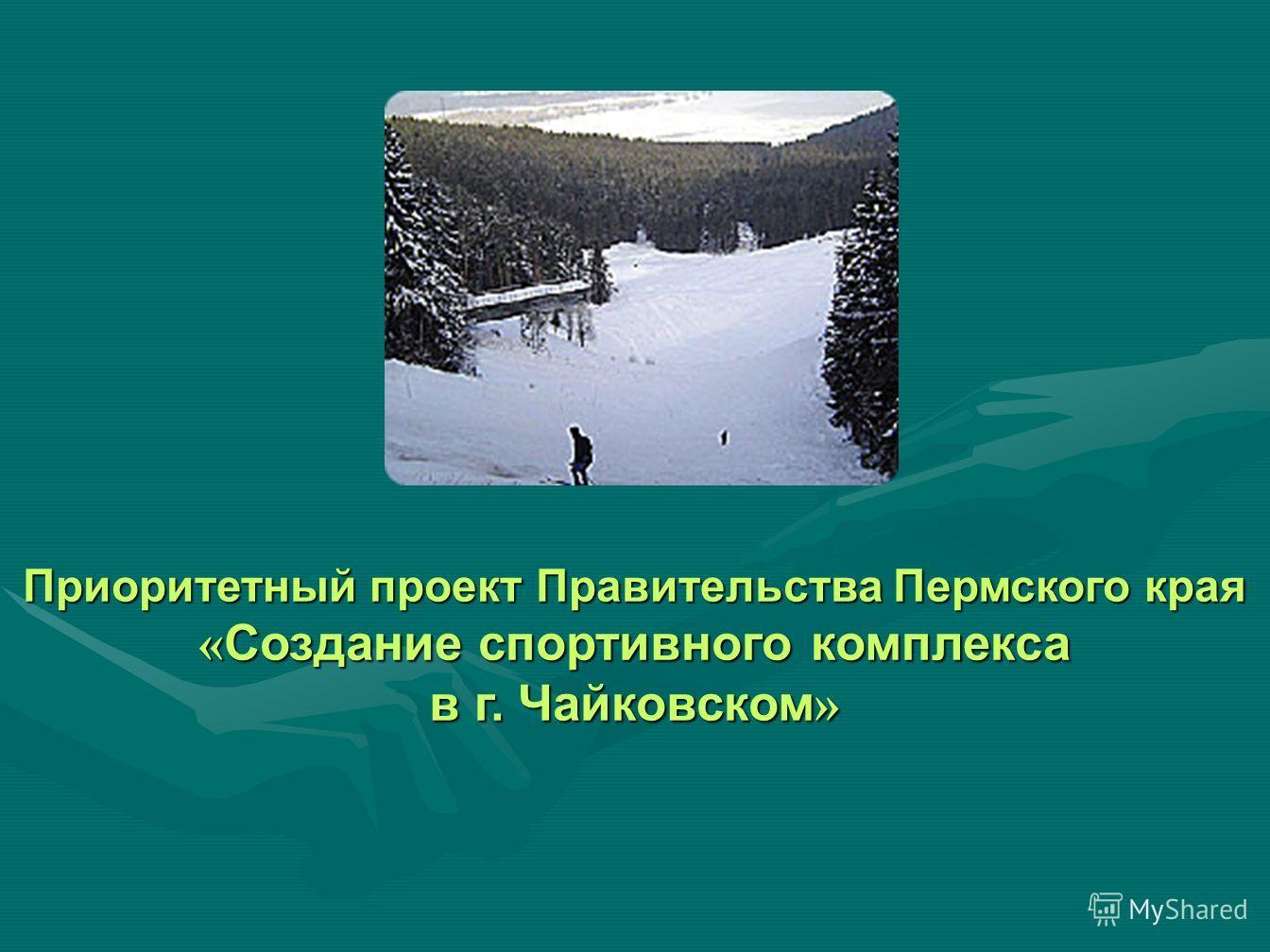 Приоритетный проект Правительства Пермского края « Создание спортивного комплекса в г. Чайковском »