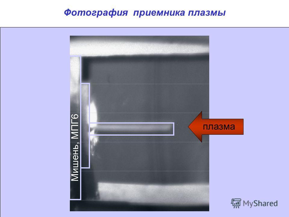Фотография приемника плазмы Мишень, МПГ6 плазма
