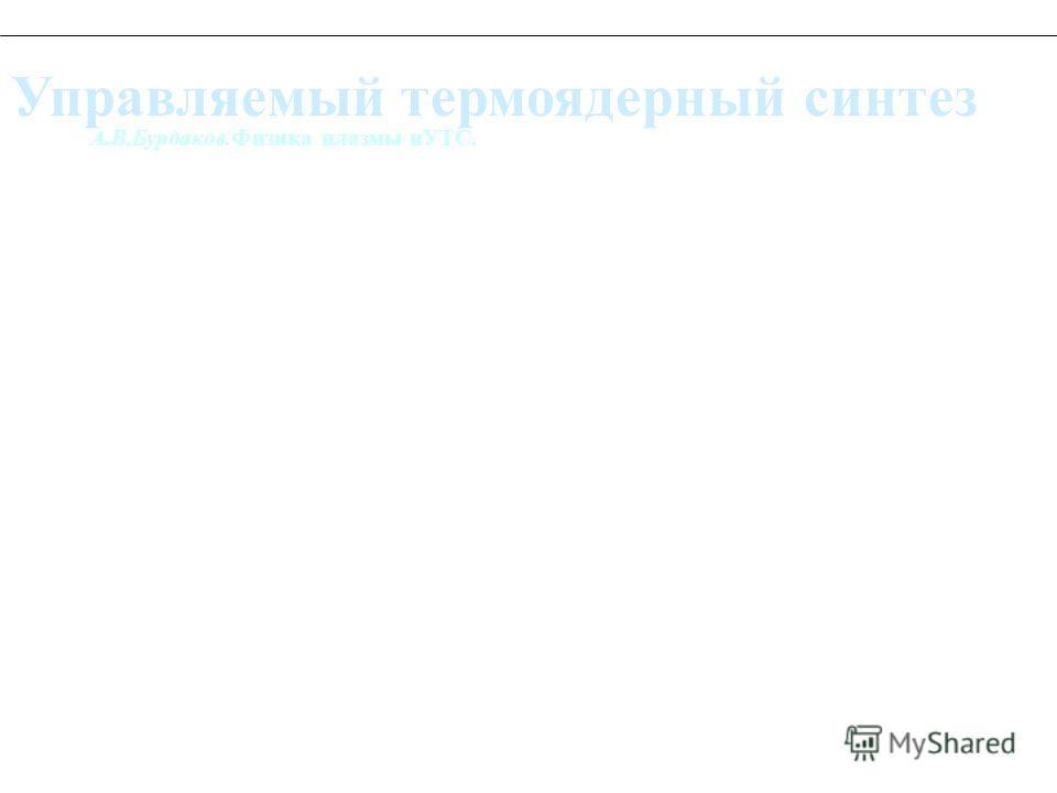 А.В.Бурдаков.Физика плазмы иУТС. Управляемый термоядерный синтез