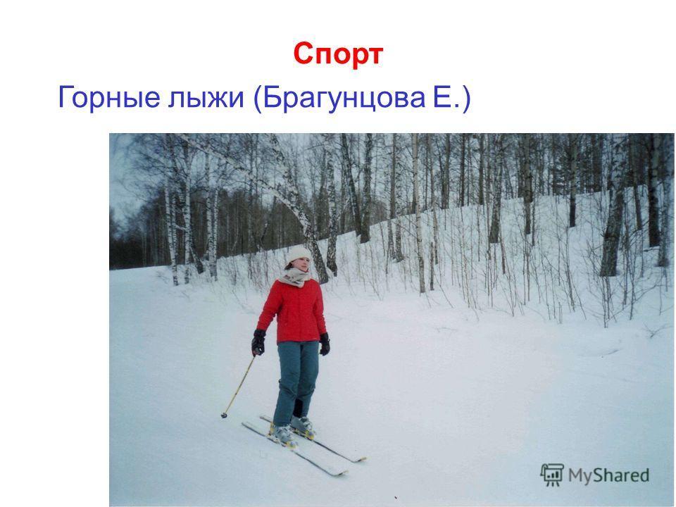 Спорт Горные лыжи (Брагунцова Е.)