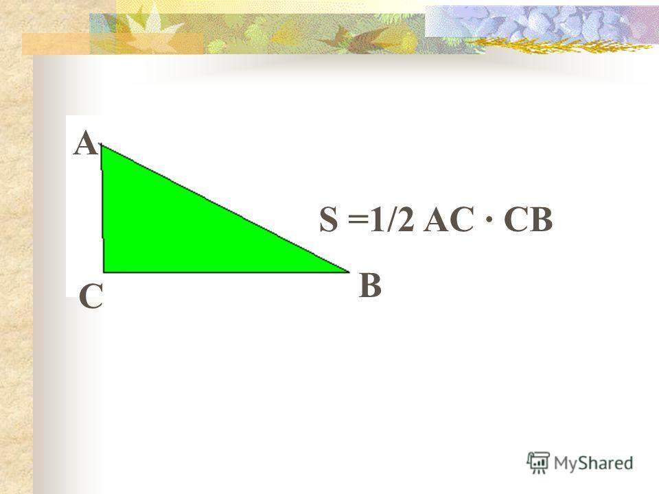 S =1/2 AC · CB B A C