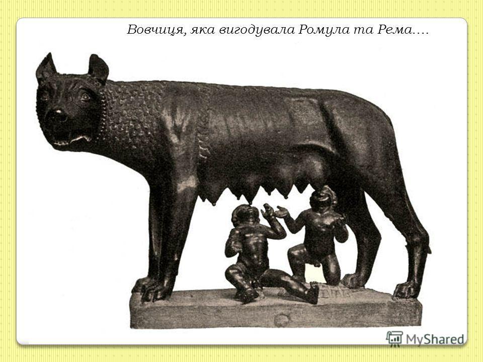Вовчиця, яка вигодувала Ромула та Рема….