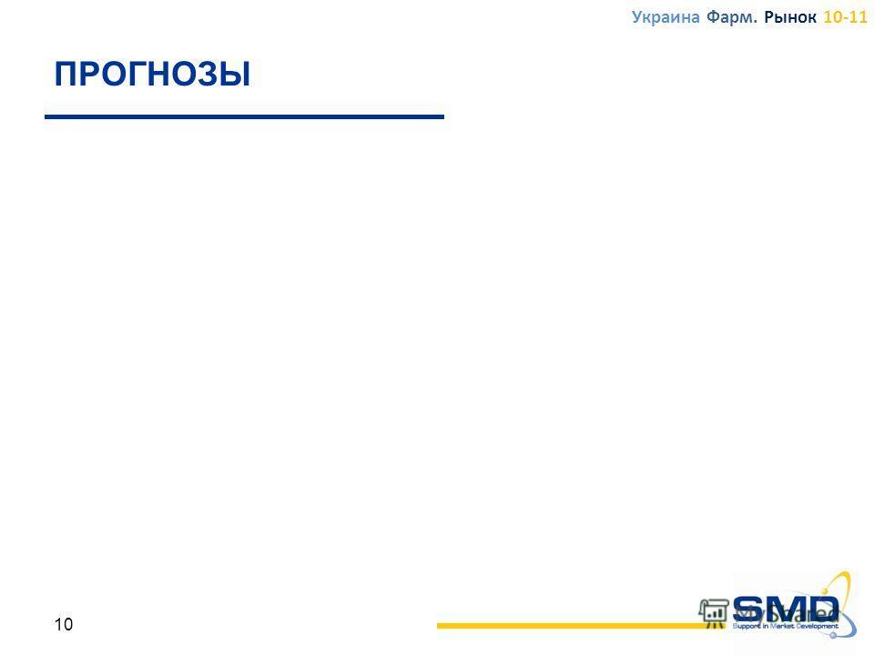 ПРОГНОЗЫ 10 Украина Фарм. Рынок 10-11