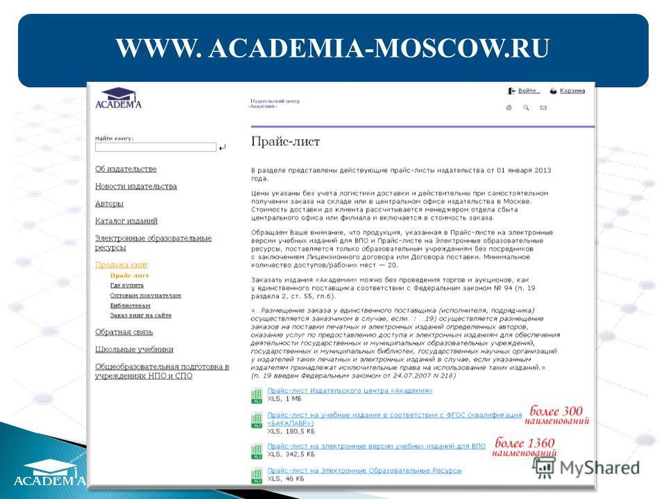 WWW. ACADEMIA-MOSCOW.RU