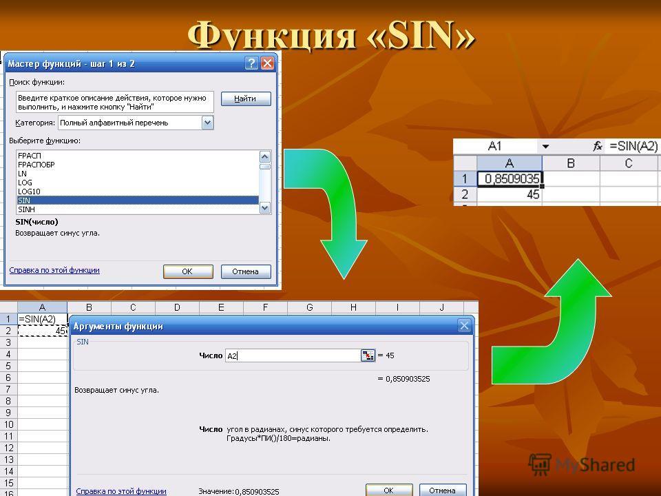 Функция «SIN»