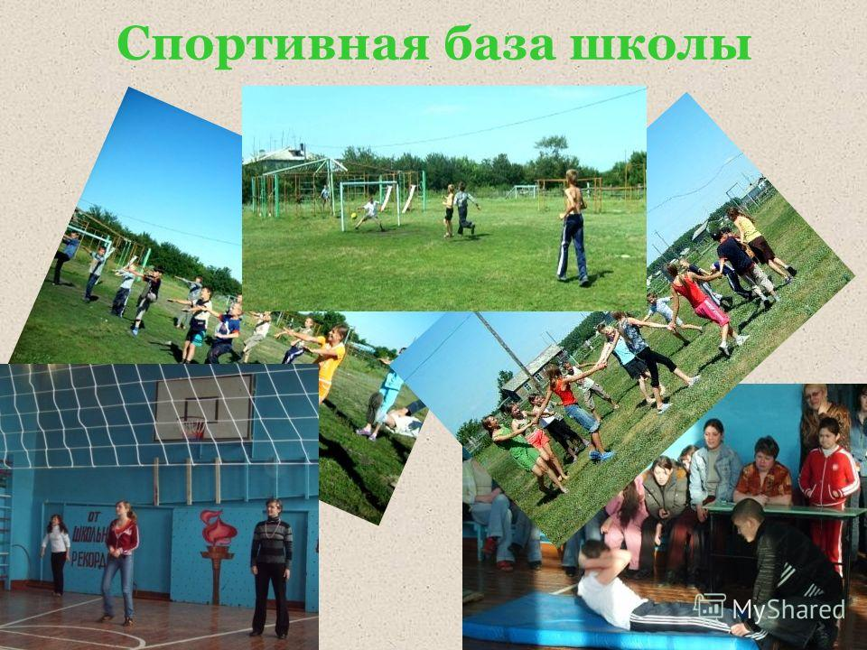 Спортивная база школы
