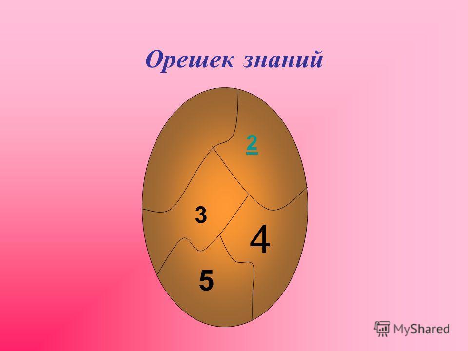 Орешек знаний 2 3 4 5