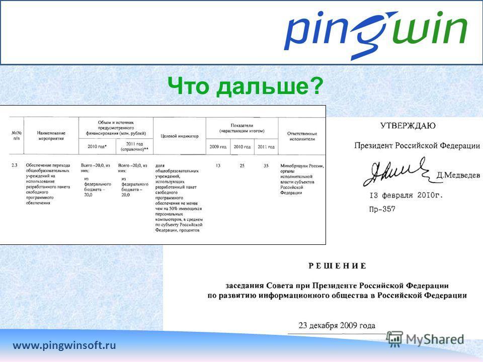 Что дальше? www.pingwinsoft.ru