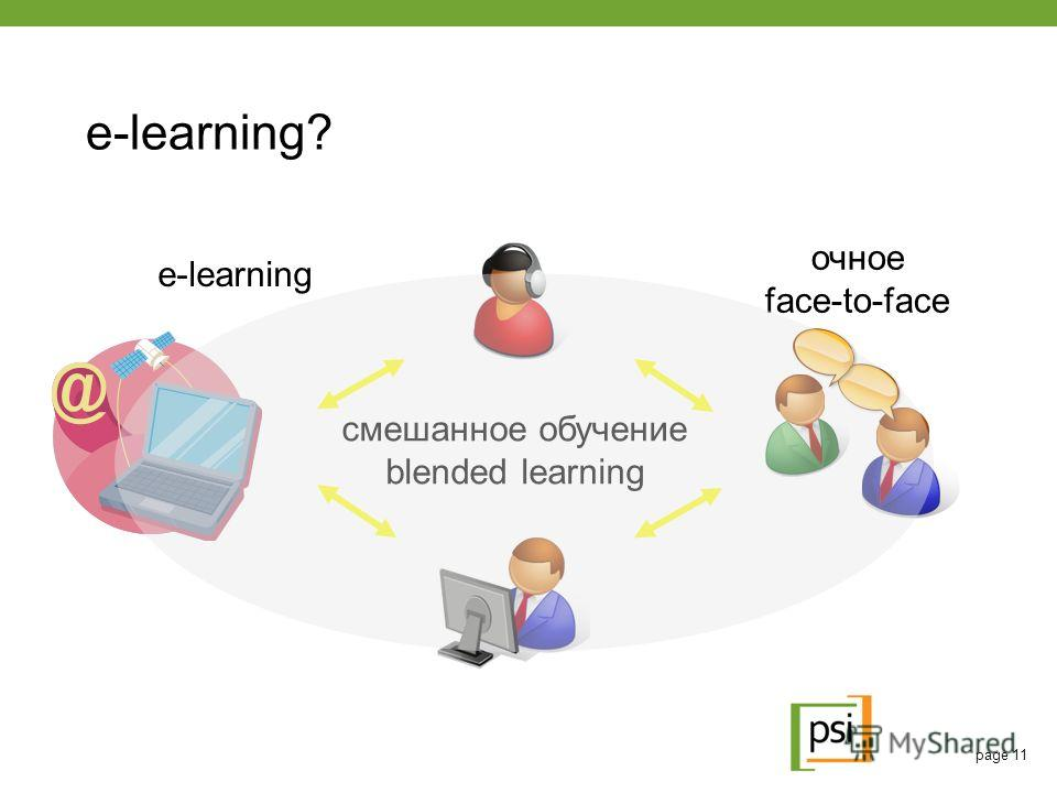 page 11 e-learning? e-learning очное face-to-face смешанное обучение blended learning